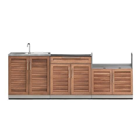 NewAge Products Outdoor Kitchen 97 Inch W x 24 Inch D 3 Piece Set