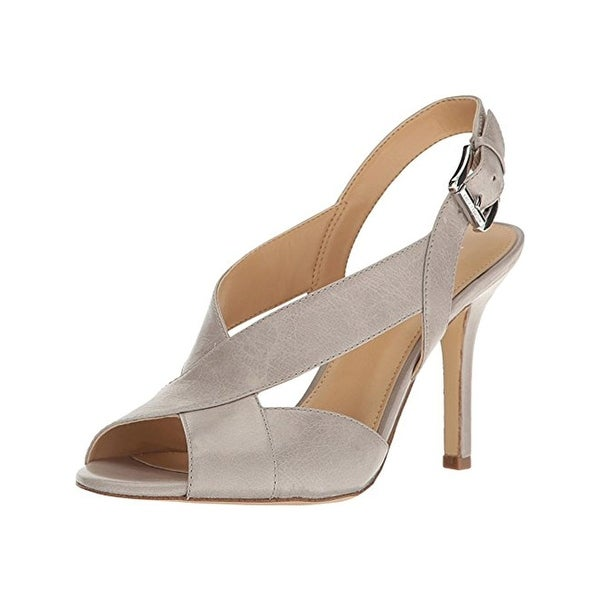 MICHAEL Michael Kors Womens Becky Heels Leather Peep-Toe
