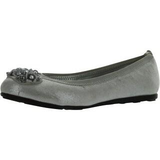 Stuart Weitzman Girls Padpa Dressy Flats Shoes - Silver