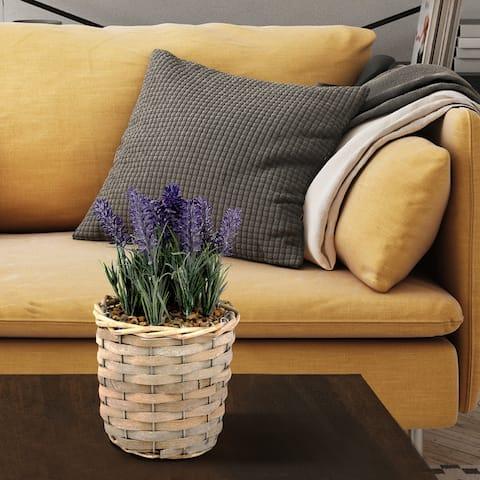 Artificial Lavender Flower Lavender in Basket/Fake Purple Flower/Plant Decoration