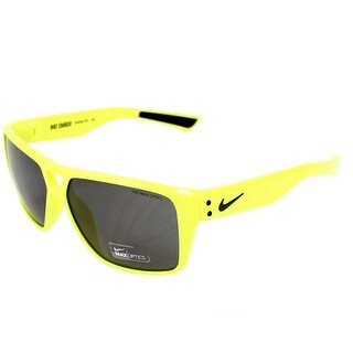 Nike Charger EV0762-710 Volt Black Frames Grey Lens Sunglasses - Yellow