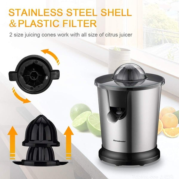Shop Homeleader Electric Citrus Juicer, Stainless Steel