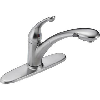 Delta 470-DST Signature Pull-Out Kitchen Faucet with Optional Base Plate - Includes Lifetime Warranty