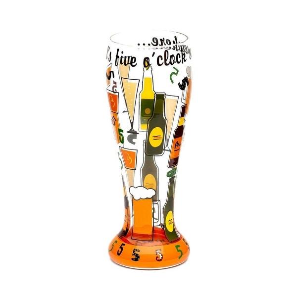 Top Shelf It's 5 o'Clock Somewhere Pilsner Glass