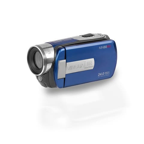"Minolta MN80NV 1080p Full HD Night Vision Video Camcorder with 24.0 MP Still Image Resolution and 3"" Touch Screen LCD (Blue)"