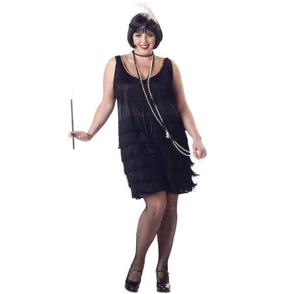 663d428679 Shop California Costumes Plus Size Fashion Flapper Costume (Black) - Black  - Free Shipping On Orders Over  45 - Overstock - 15423094