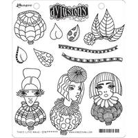 "Dyan Reaveley's Dylusions Cling Stamp Collections 8.5""X7""-Three Little Maids"