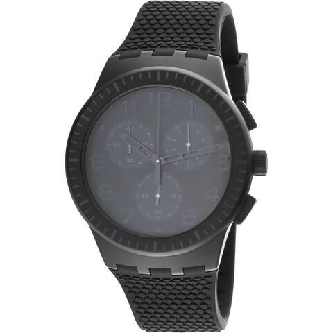 Swatch Piege Black Silicone Swiss Parts Chronograph Fashion Watch