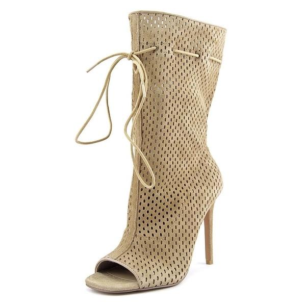 mid calf peep toe boots