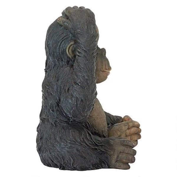 Realistic 10cm Tall Monkey Statue Figurine for Home Garden Outdoor Coutyard