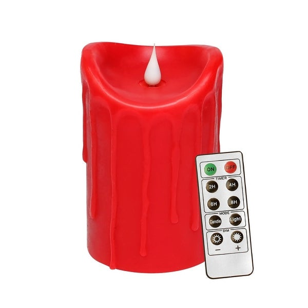 Shop 3d Flameless Led Pillar Decorative Candle With Remote Control