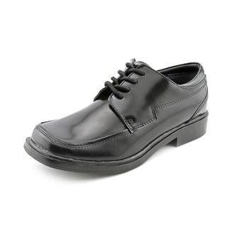 Kenneth Cole Reaction T-Flex Youth Square Toe Leather Black Oxford