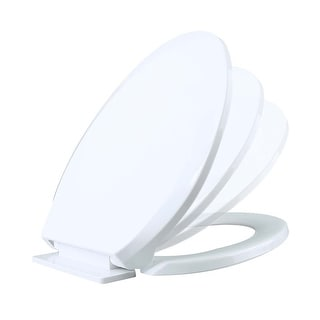Toilet Seat Slow EZ Close No Slam Plastic Elongated White | Renovator's Supply