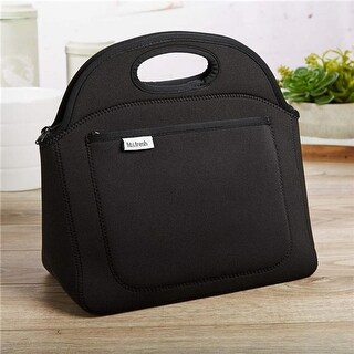 Medport Fit & Fresh Soft Rosewood Neoprene Lunch Bag, Black