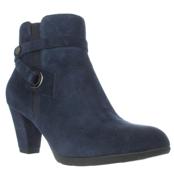 Anne Klein Chelsey Dress Ankle Boots, Navy/Navy