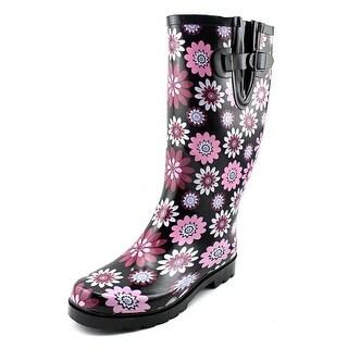 Daily Shoes Rainbow Women Round Toe Synthetic Purple Rain Boot