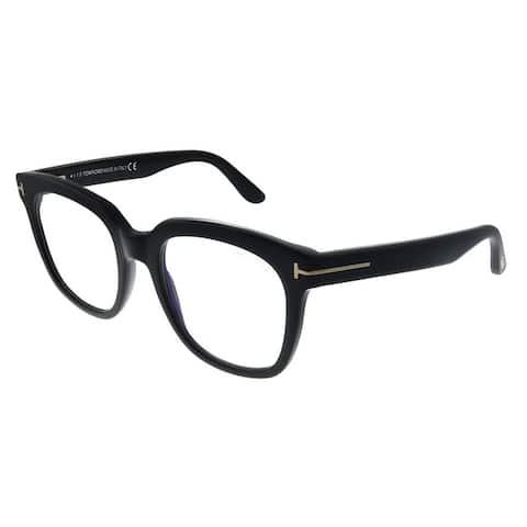 Tom Ford FT 5537-B 001 Womens Black Frame Eyeglasses 52mm