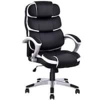 Costway Ergonomic PU Leather High Back Executive Computer Desk Task Office Chair Black