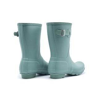 Hunter Women's Tour Green Original Short Rain Boots