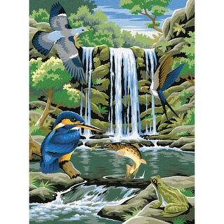 """Paint By Number Kit 9""""X12""""-Waterfall"""