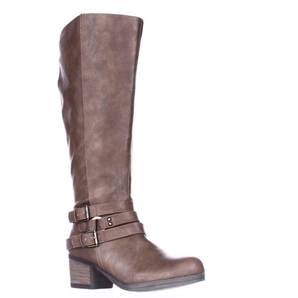 Carlos by Carlos Santana Camdyn Wide Calf Riding Boots, Cognac
