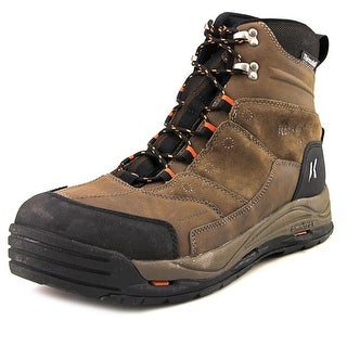 Korkers Snow Jack Men Round Toe Leather Brown Winter Boot