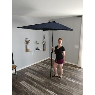 Bon ... Navy Blue 9 Footu0026#x27; Patio Half Umbrella ...