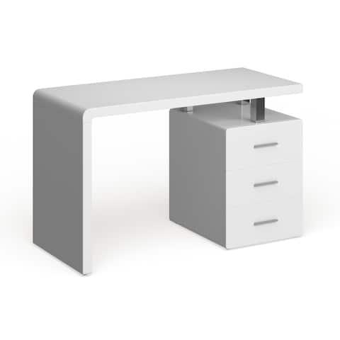 Safavieh Orrin White Chrome Desk