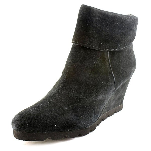 Steven Steve Madden Berkli Women Round Toe Suede Black Ankle Boot
