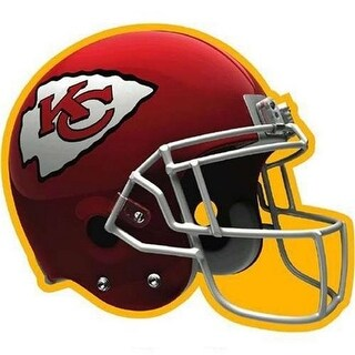 Amscan 192339 Kansas City Chiefs Paper Cut-Out, 12 in. - Pack of 6