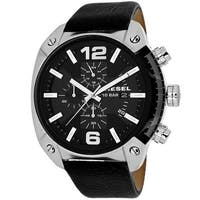Diesel Men's Overflow Black Dial Watch