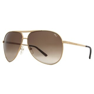 Marc Jacobs MJ 016 J5G 1E Shiny Gold/Brown Gradient Aviator Unisex Sunglasses - Shiny Gold - 62mm-11mm-130mm