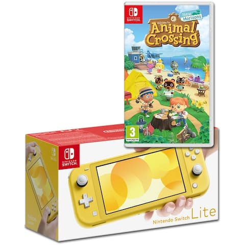 Nintendo Switch Lite Yellow Bundle with Animal Crossing: New Horizons NS Game