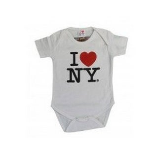 I Love NY New York Baby Infant Screen Printed Heart Bodysuit White Large 18 M...