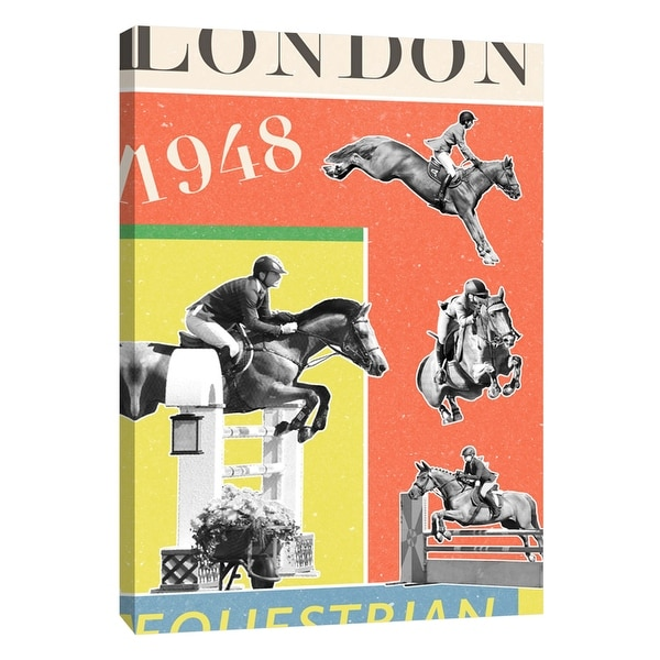 """PTM Images 9-109124 PTM Canvas Collection 10"""" x 8"""" - """"London Equestrian 1948"""" Giclee Sports and Hobbies Art Print on Canvas"""
