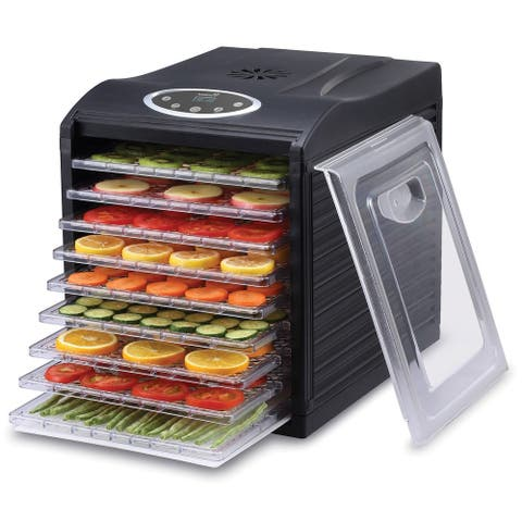 Ivation 600w Electric Food Dehydrator Pro with 9 Drying Trays and Digital Temperature Controls