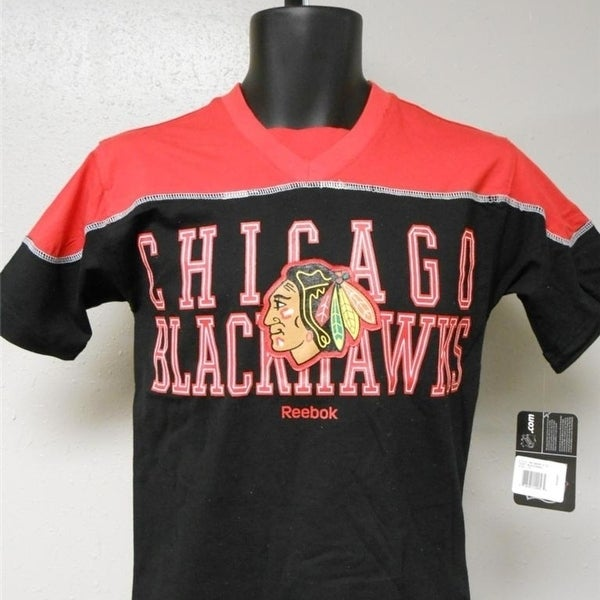 8d4de4f1b Shop Mended Chicago Blackhawks Youth Medium M Size 10 12 Red Shirt ...