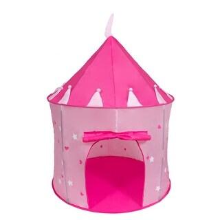 Cinderella CUSA033 Girls Pink Princess Play Castle Pop Up Tent