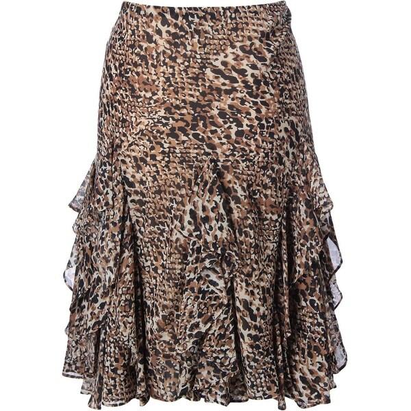 Lauren Ralph Lauren Womens A-Line Skirt Chiffon Cascade Ruffle
