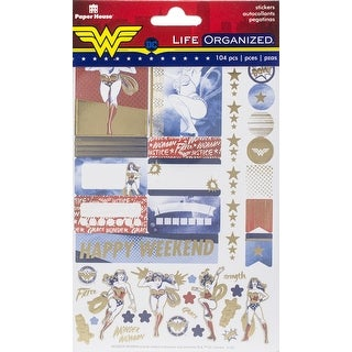 Wonder Woman - Paper House Life Organized Planner Stickers 4/Sht