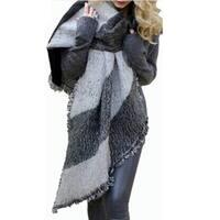 Winter Fashion Women Blanket Scarf Female Cashmere Wool Scarf Shawl Warm Thick