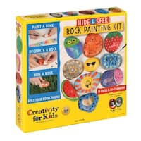 Creativity for Kids Hide & Seek Rock Painting Art Kit - River Stone Craft Set with Accessories - MultiColor