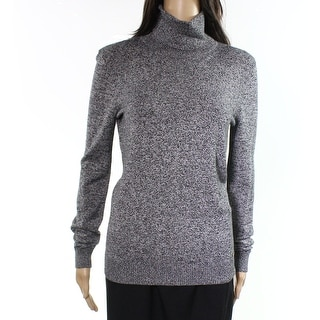 Calvin Klein NEW Gray Womens Size Small S Ribbed Trim Turtleneck Sweater