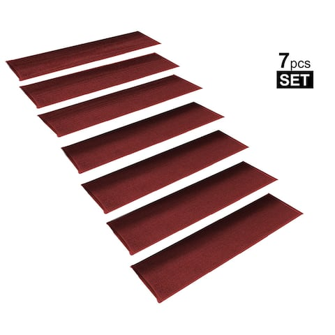 """Non-Slip Rubber Backing Resistant Stair Treads Set of 7 ( 8.5"""" x 26"""" )"""
