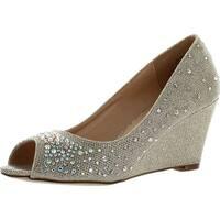 Blossom Womens Half-3 Dressy Wedge Shoes