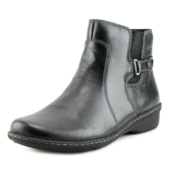 Naturalizer Rylen Women N/S Round Toe Leather Black Ankle Boot