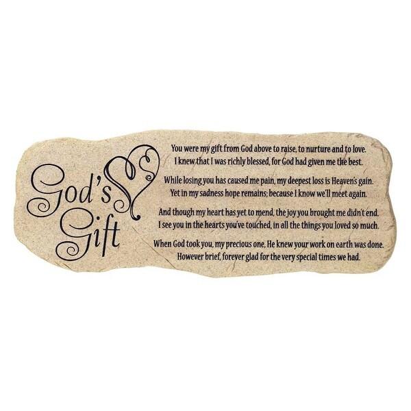 """12"""" God's Gift Sentimental Memorial Garden Stone - N/A"""