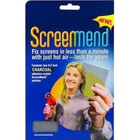 """ScreenMend 04532 Adhesive-Coated Screen Repair Patch, Charcoal, 5""""x7"""", 2-Pack"""