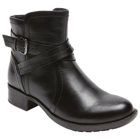 Rockport Women's Cobb Hill Caroline Ankle Boot Black Leather