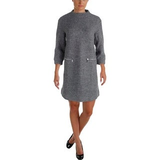 Marc by Marc Jacobs Womens Sweaterdress Wool Metallic